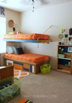 Boys Colorful African Aztec Bedroom #boysbedrooms #kidsbedrooms