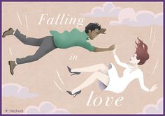 Meaning: To become enamoured of each other. To start to feel love for someone, or something. Origin: The word 'fall' is used in the expression to convey the sense that starting to love someone is something unexpected and unplanned, just as falling is unexpected and unplanned.
