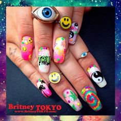 Dope nail art by Britney Tokyo! Totes inspired!