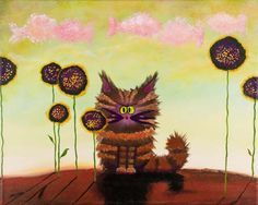 Brown Cranky Cat Available for purchase on www.CrankyCats.com Copyright owned by Cynthia Schmidt.