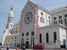 the pre-earthquake Roman Catholic cathedral in downtown Port-au-Prince (also destroyed)