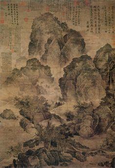 Fan Kuan- En soledad junto a un arroyo /Sitting alone by a stream). S. XI