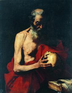 Jose de Ribera, Meditation St. Jerome, c. 1647. #chiaroscuro