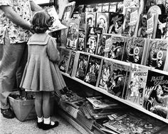 Picking out a new coloring book .