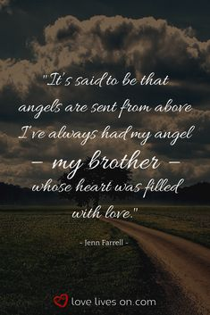 """Funeral quote from the funeral poem for brother """"In My Mind"""" by Jenn Farrell. Click for 27+ more of the best funeral poems for a brother to use in his funeral, memorial service or celebration of life. Funeral Quotes for Brother 