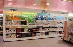 Avent wall merchandising unit. Won with POPAI and the shopper.