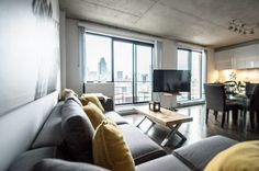 For Sale in Le Sud Ouest! View of the city, light filled, indoor garage space, and locker.