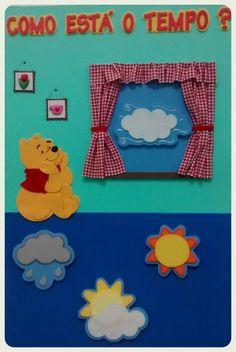 Painel do tempo - Ursinho Pooh