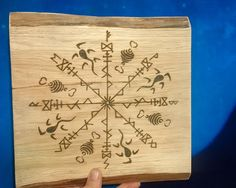 My goods is my goods rune becoming to save and return money attractor Norse wall plaque, Odin, Thor, Loki, Vegvisir, Altar