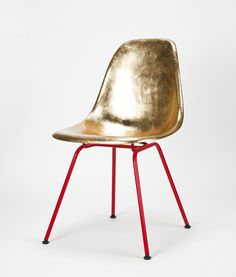 Eames Side Chair in Gold #chairs #furniture