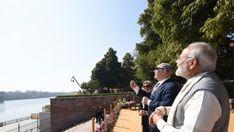 Indian PM Modi with Isreal PM at Sabarmati Ashram.