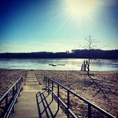 Chilson Beach in #FranklinMass- beautiful in the summer or the winter! #Massachusetts #NewEngland