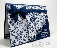 Drapery Fold Card by Jari - Cards and Paper Crafts at Splitcoaststampers
