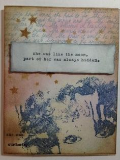 She is Like the Moon - Made with Donna Downey stamps
