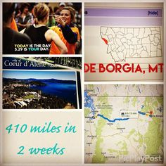 I am so proud of my #BalanceBlocks fitfam ...  We are on a virtual cardio trip from Tacoma WA to Manchester NH  We are two weeks in and have traveled a total of 410 miles!   We made it into the first town over the Idaho border into Montana ... De Borgia MT. Population less than 100   Even though we didn't reach our weekly mile goal we did make it to Montana which was a goal! So we're celebrating that   We traveled through Coeur D'Alene Idaho which is an absolutely gorgeous town…