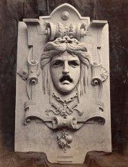 Marville : masque de la Tragédie, façade du Vaudeville