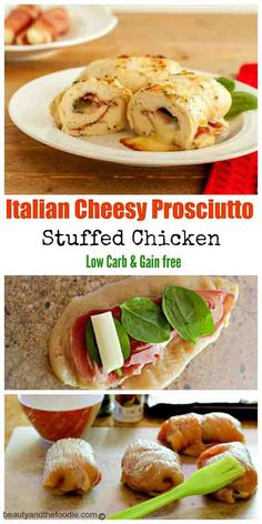 Italian Cheesy Prosciutto Stuffed Chicken, grain fee and low carb Low Carb Chicken Recipes, No Carb Recipes, Real Food Recipes, Cooking Recipes, Healthy Recipes, Healthy Eats, Healthy Foods, Low Carb Meats, Atkins Recipes