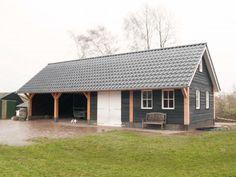 Houtbouw Garage Schuur : 42 beste afbeeldingen van houten schuur met overkapping vanaf 40m2
