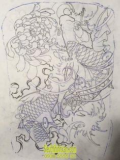 Pez Koi Tattoo, Carp Tattoo, Japanese Drawings, Japanese Art, Love Tattoos, Body Art Tattoos, Tricep Tattoos, Koi Tattoo Design, Hanya Tattoo