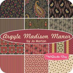 Argyle Madison Manor Fat Quarter Bundle Jo Morton for Andover Fabrics