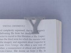 Bookmark Monogram. Initial / Letter  Y  in Polished Metallic Plastic