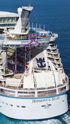 Click on photo to see Royal Caribbean press release with information on the Ultimate Abyss slide -- Harmony of the Seas Takes Multi-Sensory, Hair-Raising Thrill to New Heights in May 2016