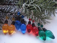 Christmas Light Bulb with Sterling Silver and by OldeTowneJewelry, $10.00