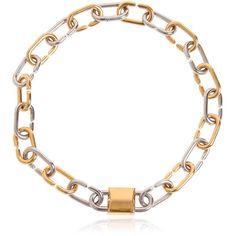 383f42761924 Alexander Wang Women Broken Link Double Lock Choker Necklace (€800) ❤ liked  on