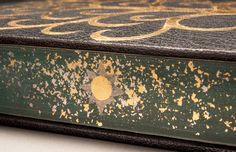 Bound by Heather Bain.  Painted and gilt edge decoration