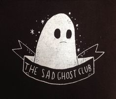 Hey, I found this really awesome Etsy listing at https://www.etsy.com/listing/211110313/sad-ghost-club-patch