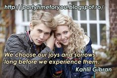 Party time: We choose our joys and sorrows long before we expe...