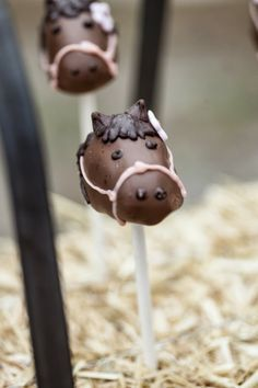Horsecake pops for a Pink themed cowgirl party | The Frosted Petticoat