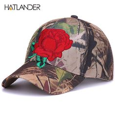 fd349cd2b50 Embroidery floral baseball caps for men women sun hats fitted adjustable  outdoor sports cap