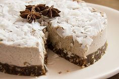 Yogi Cake | A raw chai cake with creamy lacuma, citrus and coconut.