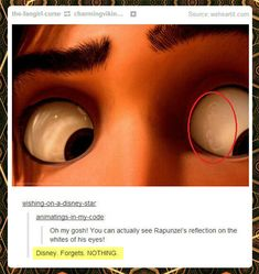 That's why Tangled is awesome! Disney worked really hard on it!!!