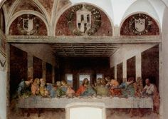 """""""The Last Supper"""" by Leonardo da Vinci, Church and Dominican Convent of Santa Maria delle Grazie (Milan, Italy)"""