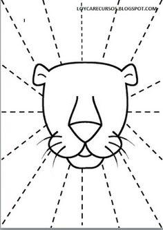 Free Printable Trace Line Worksheet for Kids - Preschool and Kindergarten Cutting Activities, Motor Activities, Infant Activities, Preschool Curriculum, Preschool Activities, Lion Craft, Kindergarten Projects, Scissor Skills, Worksheets For Kids