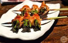 [SG] Sumire Yakitori House | Asparagus wrapped with bacon yakitori