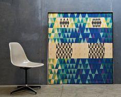 """""""Pythagoras"""" fabric panel by Sven Markelius"""