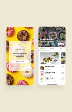Good Food Recipes App UI Kit is a pack of delicate UI design screen templates that will help you to design clear interfaces for food recipe app faster and easier. Compatible with Sketch App, Figma & Adobe XD Design Websites, Web Design Tutorials, Web Design Trends, Online Web Design, Web Design Company, Web Design Services, Ui Design Mobile, App Ui Design, Best App Design