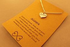 Little Sister Necklace: Silver Tone Little by CraftsbyBrittany