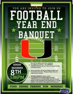 High School Football Banquet Invitations Pinteres