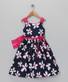 This C.I. Castro Navy & Pink Daisy Dress & Shrug - Toddler & Girls by C.I. Castro is perfect! #zulilyfinds