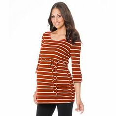 Oh Baby by Motherhood Striped Tunic - Maternity