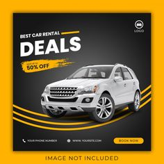 Discover recipes, home ideas, style inspiration and other ideas to try. Car Banner, Event Banner, Social Media Banner, Social Media Template, Rent Car, Best Car Rental Deals, Donia, Ads Creative, Banner Template