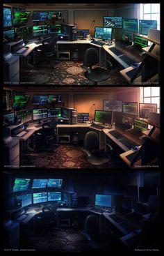 Computer Gaming Room, Computer Desk Setup, Gaming Room Setup, Gaming Rooms, Home Office Setup, Home Office Design, Tech Room, Led Stripes, Video Game Rooms