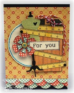 Cute card with the Unity CC Material Girl stamps