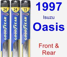 Front & Rear Wiper Blade Pack for 1997 Isuzu Oasis - Hybrid