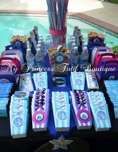 Frozen birthday party ideas  frozen candy table