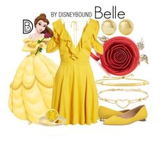"""Belle"" by leslieakay ❤ liked on Polyvore featuring Diesel, Disney, Massimo Matteo, Kenneth Jay Lane, NEXTE Jewelry, disney, disneybound and disneycharacter"